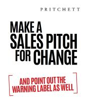 Make A Sales Pitch For Change