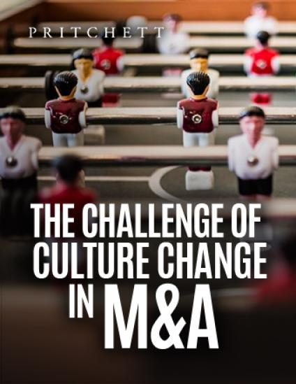 The Challenge Of Culture Change In M&A