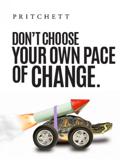 Don't Choose Your Own Pace of Change