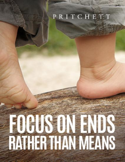 Focus On Ends Rather Than Means